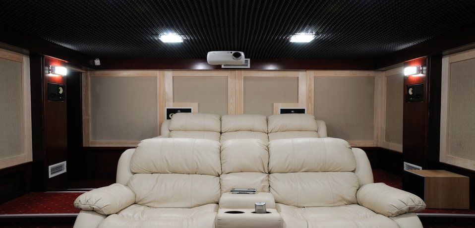 Kingwood home theater with chairs