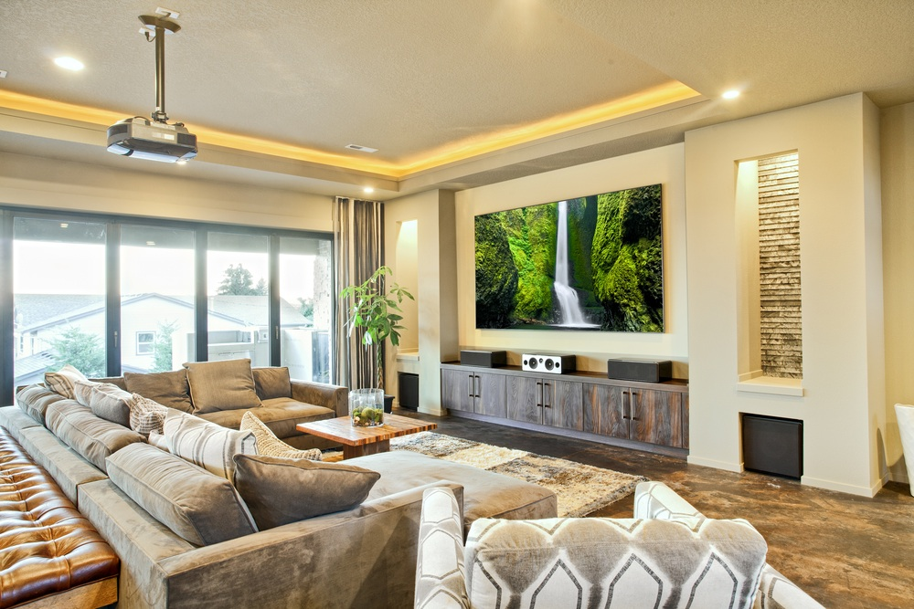 Houston Heights Audio Visual LIving Room