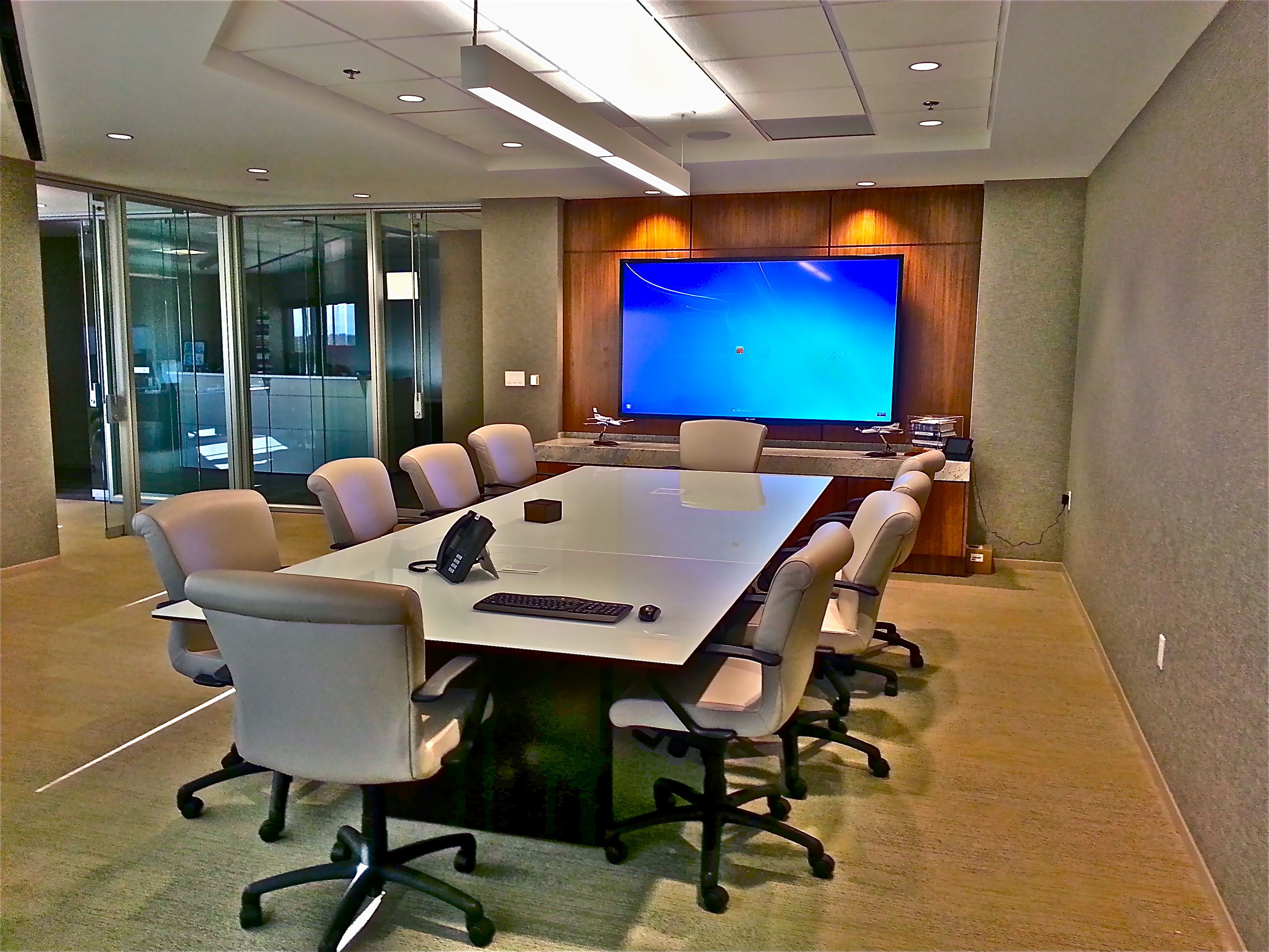 boardroom with advanced video systems