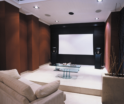 houston custom theater with lighting system