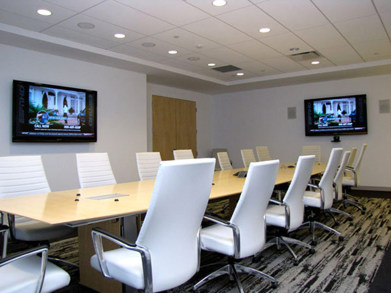 custom audio and video system for houston conference room