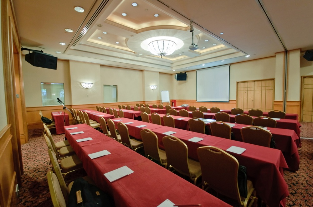 pro audio in banquet or meeting room at houston hotel