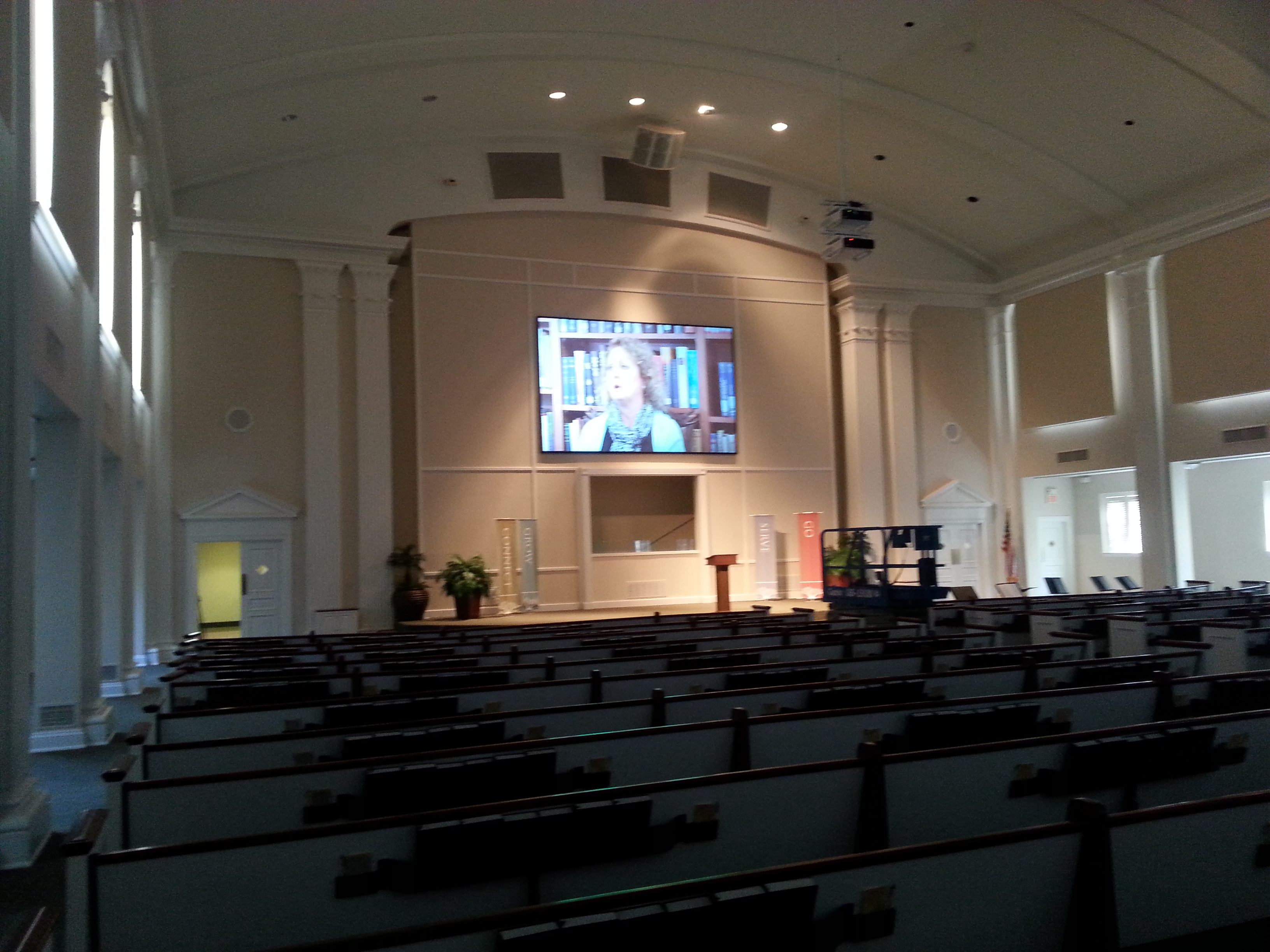 Houston Church Audio Video System Projectors Audio
